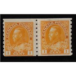 #126i F-VF NH COIL PAIR PERF 8 VERTICAL PASTE-UP PAIR