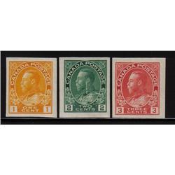 #136-137-138 XF-NH IMPERF SINGLE C$250,00