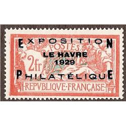 France #246 VF-LH OVERPRINTED *EXPOSITION PHILATELIQUE LE HAVRE 1929*