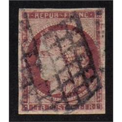 France #9c USED VF SIGNED ON BACK NO FAULTS