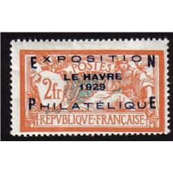 France MINT #246 F-VF LH (Yvert #257A) CAT675€  *OVERPRINTED EXPOSITION LE HAVRE 1929 PHILATELIQUE*