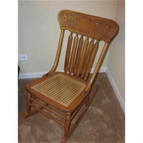 Strange Antique Pressback Cane Seat Rocking Chair 1487825 Machost Co Dining Chair Design Ideas Machostcouk