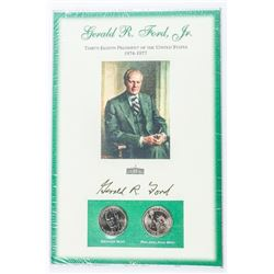 Gerald R. Ford Jr. 1974-1977 President 2 Mint  1.00