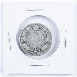 1912 Silver Canada 25 Cents