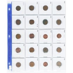 Group (20) Canada One Cent Coins - 1952-1970  Era