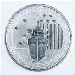 Battle of the Coral 'War in the Pacific' .999  Fine Silver 50 Cents