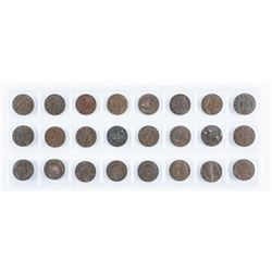 Group of (24) King George 1 Cent Coins