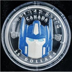 RCM 2019 Transformers .999 Fine Silver $25.00  Coin Mintage 3500 (SOR)