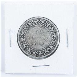 1900 Victoria NFLD Silver 50 Cent