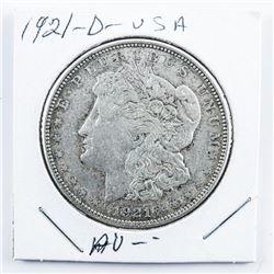 1921(D) USA Silver Morgan Dollar (AU)