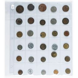 Lot (30) World Coins.