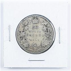 1910 Canada Silver 50 Cents