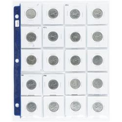 Group (20) Canada 25 Cent 1968-1988 Era