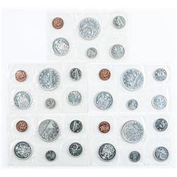 Lot (5) RCM PL Sets 1965 - Original Mint Wrap