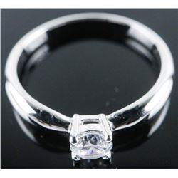 925 Sterling Silver Ring, Solitaire Swarovski  Elements Size 7