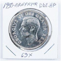 1950 Canada Silver Dollar Arnprior Db1-H.P.  MS63