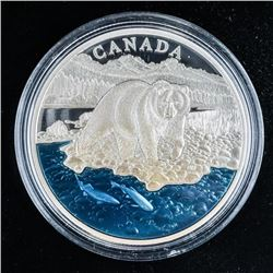 RCM 2017 The Grizzly Bear .999 Fine Silver  $20.00 Coin Master Club, Mintage 4000