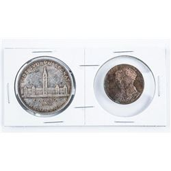 1939 Canada Silver Dollar and Bronze Medal