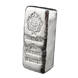 Collector Bullion 'Loof' .999 Fine Silver  Hand Poured Loaf, 10 Troy Ounce