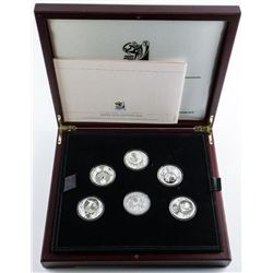 2010 FIFA World Cup South Africa, Silver Coin  Edition 6 Coin Set, 925 Sterling Silver  Proof 2 Rand