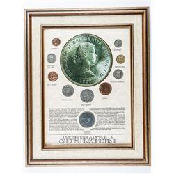 Estate - Collector Frame Pre Decimal Coinage  of Queen Elizabeth II