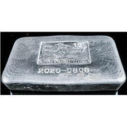 Collector Bullion Bar 999+ Fine Silver Hand  Poured Bar - 10 Troy Ounce