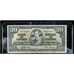 Bank of Canada 1937 20.00 BC25b (G/T) (F)