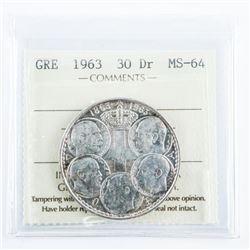 Greece 1963 3DR MS64. ICCS