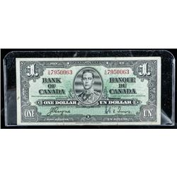 Bank of Canada 1937 1.00 BC21d (C/T) (VF)