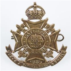 WWII - Voltigeurs De Quebec Corp Badge - By  Scully, Mtl
