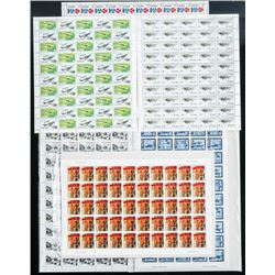 Group (300) 6 Sheets x 50 Canada Post Stamp  Issues Mint Sheets