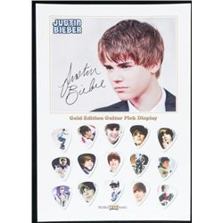 Justin Bieber Gold Edition 15pc Guitar Pick  Collection
