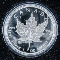 RCM Commemmorative Maple Leaf .999 Fine  Silver 1oz Wood CaseÂ