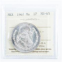 MEXICO 1967 Mo 1P. MS65. ICCS