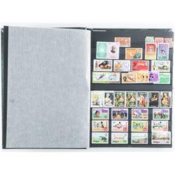 Islands - Stamp Collection Green Uni Safe  Album Full