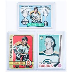 Group of (3) BOBBY ORR Cards - 50+ Years old