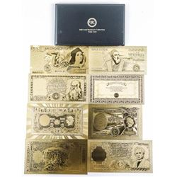ITALY 24kt Gold Leaf Banknote Collection  Album