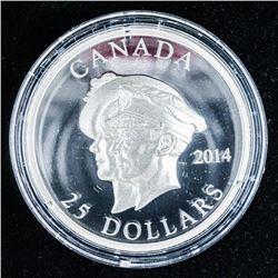RCM Royal Visit to Canada .999 Fine Silver  $20.00 Coin. LE/C.O.A. - 1.008 ASW