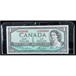 Bank of Canada 1954 1.00 Note *Replacement  L/B