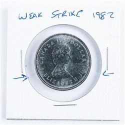 1982 Canada Nickel Weak Strike Dollar