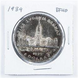 1939 Canada Silver Dollar Toned