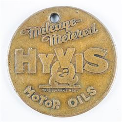 Vintage Hyvis Oils Mileage Metered Collectors  Coin - RARE