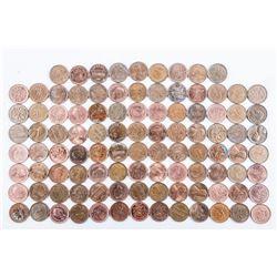 Bag (100) Canada 1 Cent Coins