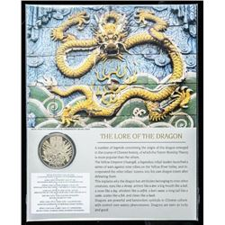 The Lore of the Dragon - 24kt Gold Plated  Medallion with Art Card