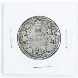1910 Canada Silver 50 Cent