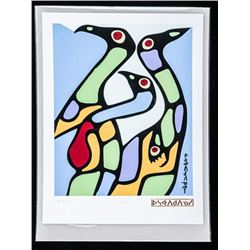 Norval Morrisseau (1931-2007) Publishers  Proof/24 'LOONS' 8x10 Unframed Giclee with  Cree Signature