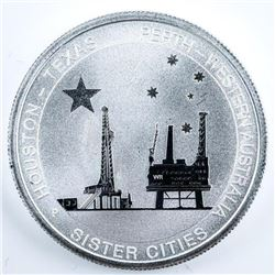 Australia Sister Cities Houston-Texas .999  Fine Silver Coin