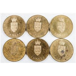 Lot (6) Canada 1867-1967 Confederation Medals  'Coat of Arms'