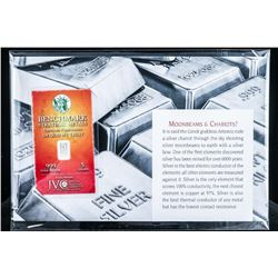 Moonbeams and Chariots Collector Bullion .999  Fine Silver Bar with Giclee Art Card