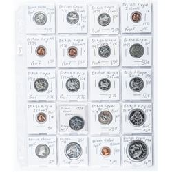 Group of (20) Coins - British Virgin Islands  (2x2 Page)